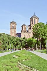 St. Mark's Church (Mucahit Cetin) Tags: park church serbia belgrade beograd saintmarcus tamajdan crkvasvetogmarka