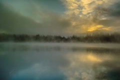 This Cup is Full (jeanmarie's photography) Tags: blue light sky sun mist lake reflection nature colors fog clouds sunrise landscape nikon jeanmarie cottagelake woodinvillewa jeanmarieshelton
