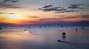 Gulf of Bang Taboon (K. Apisak) Tags: sea sun water sunrise thailand boat gulf before bangtaboon