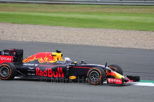 Daniel Ricciardo in the Red Bull in Free Practice 1 at the 2016 British Grand Prix