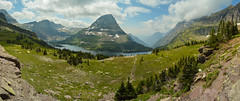 Bearhat Mountain (East Western) Tags: road park sky panorama sun mountain lake big montana mt country pass going glacier hidden alpine national fjord logans bearhat
