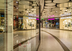 More & More ... Never Enough (USpecks_Photography) Tags: reflection architecture shopping underpass munich mnchen indoors mass deserted galleria stachus karlsplatz