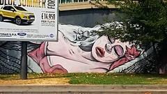 street art (archidream) Tags: leda cigno murales streetart paint colori passione amore love zeus mito mitologia greci
