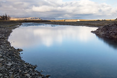 Got no reflection (OR_U) Tags: 2016 oru iceland kirkjubjarklaustur systrastapi river water le longexposure marilynmanson blue clouds bridge rocks pebbles calm