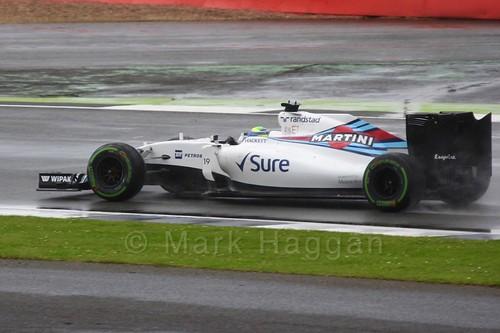 Felipe Massa in his Williams during the 2016 British Grand Prix