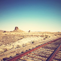 ghost train (Maureen Bond) Tags: desert mars tracks tronapinnacles hot ca desolate open iphone maureenbond ghost train