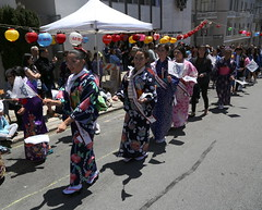 Nijyu Isseki Ondo: Flag (beppesabatini) Tags: 78thginzabazaar85thbonodori obon buddhistchurchofsanfrancisco japantown california streetfestivals kimonos dance beautyqueens churchbazaar buddhist buddhistchurchesofamerica