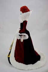 Iracebeth the Red Queen In the Queen of Hearts' Gown - Full Right Side View (drj1828) Tags: us disneystore ebay purchase limitededition 17inch doll posable collectible iracebeth alicethroughthelookingglass liveactionfilm theredqueen le4000 swappingoutfits undressed deboxed boxed queenofhearts aliceinwonderland le500