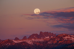 Summer Solstice Sunrise Moon Set (Jeffrey Sullivan) Tags: california travel summer copyright usa moon mountains nature june set sunrise canon landscape photography eos photo full fullmoon solstice astrophotography astronomy mammothlakes sierranevada minarets allrightsreserved highsierra 6d the easternsierra 2016 strawberrymoon monocounty jeffsullivan