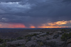 rain squall catches the light (Jeff Mitton) Tags: sunset lightning rainsquall canyon mesa smokymountain utah coloradoplateau landscape earthnaturelife wondersofnature