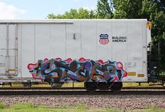 Stoe (quiet-silence) Tags: railroad art train graffiti railcar unionpacific graff freight reefer cdc stoer armn fr8 stoe armn170535