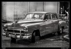 Cuban Car (meggiecaminos) Tags: street bw black blanco car calle strada negro cuba streetphotography bn coche trinidad carro bianco macchina nero urbanlandscape fotografaurbana