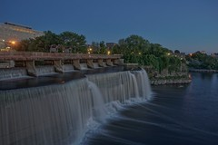 One river meeting another (beyondhue) Tags: rideau falls ottawa river sussex drive ontario waterfall canada summer evening beyondhue cityscape landscape blue sky hdr light long exposure