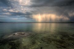 The Coming Rain (JeffMoreau) Tags: west thumb geyser basin fishing cone yellowstone national park wyoming rain coming reflection
