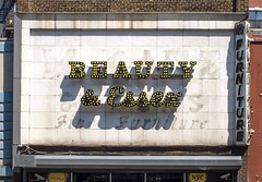 Beauty & Essex (Stewf) Tags: brooklyn lettering slab script bulbs sign ghostsign