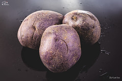 Purple Potatoes (Kashi Klicks) Tags: purple nuttysweet potato purplepotatoes fresh veggies redpotatoes sweetpotato colorfulpotato bluepotatoes unusual delicious nutritious purplepotatoeslovers nativeperuand bolivia southamerica organicphotography stilllife foodphotography photography artistickk kashi klicks kklicks kashiklicks