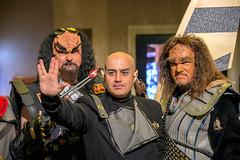 Peace in the Galaxy (globetrekimages) Tags: startrek lasvegas costume klingon vulcan cosplay scifi sciencefiction man person