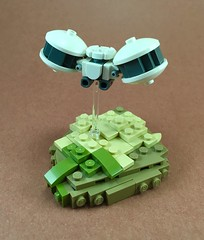 Hover Drone (Brick Productions) Tags: lego drone white desert newbackground