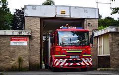 Haydon Bridge Community Fire Station (firepicx) Tags: northumberland fire rescue service nfrs emergency brigade 999 firefighter dennis sabre wrlet pump blue lights sirens station lineup retained haydon bridge nj03bgz