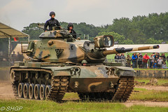 M60A3 Patton, Tank Fest 2016, Bovington Tank Museum (harrison-green) Tags: fv4205 chieftain armoured vehiclelaunched bridge avlb tank fest 2016 bovington museum armour armor vehicle canadian army land forces armed day military canon eos 700d sigma 18250mm outdoor british uk united kingdom challenger 2 ii khalid sword jordanian jordan mbt main battle royal arrv bridgelayer sans sid sign signature integration demonstrator rolls royce car tractor alvis stalwart t72 t55 type m60 m60a1 patton a3 m60a3