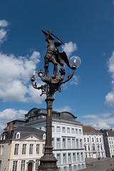 St. Michael on a lamppost (quinet) Tags: 2014 belgium ghent michael archangel antwerp flanders