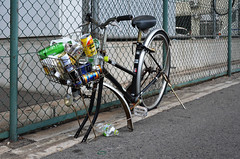 Abandoned Bicycle Result in Kobe (pokoroto) Tags: abandoned bicycle result kobe japan august summer 2016