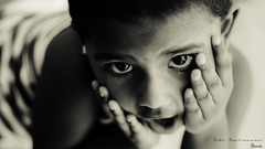 Creamy Mira (Sukiraman Manivannan) Tags: bw creamatone eyes kids dof face black white