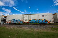 (o texano) Tags: houston texas graffiti trains freights bench benching link crene