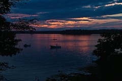 The Mary Emma at Dusk (smilla4) Tags: boats dusk reflections sky clouds maquoit bay maquoitbay merepoint maine silhouettes