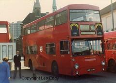 DMS1224, West Croydon, March 1982 (aecregent) Tags: lt daimler fleetline c3 londontransport mcw dms westcroydon dms1224 jgf224k