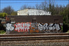 10Foot, Saiv, Lover, Dren... (Alex Ellison) Tags: urban graffiti boobs tag railway graff lover hg trackside northlondon dren 10foot saiv ofske
