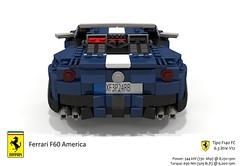 Ferrari F60 America (2014) (lego911) Tags: auto italy sports car america spider model italian lego render under over convertible ferrari million challenge thousand cad sportscar 89 povray f12 v12 moc f60 berlinetta ldd miniland lego911 overamillionunderathousand