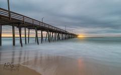 Sunrise at the Virginia Beach Pier (APGougePhotography) Tags: sun detail beach clouds sunrise coast virginia pier nikon va topaz d600 denoise topazlabs nikond600 topazdenoise topazdetail topazclarity