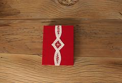 Red, Linen Lace Journal - The Uncut Book (Kandis Design) Tags: paper notebook book handmade diary journal papel bookbinding diario handbound encadernacao handtornpaper