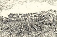 Village vue des Clèdes