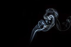 Everything that burns.. (Min.Still Photography) Tags: abstract black dark fire smoke minimal burning burn stick flashgun whitesmoke snoot incensesticks