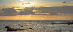 160713 038w1 (Marteric) Tags: ocean bridge light sunset summer cloud sun seascape water beauty rock landscape evening coast sweden outdoor rays varberg halland sdra ns