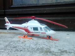 Majorette brocante Villeneuve. (ced12110) Tags: majorette augusta diecast a109 helicoptre ambulance