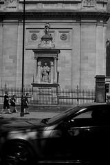 Monument to John Henry Newman on the wall of The Oratory House (IanAWood) Tags: london streetphotography knightsbridge urbanlife summerinthecity walkingwithmynikon nikondf nikkorafs58mmf14g