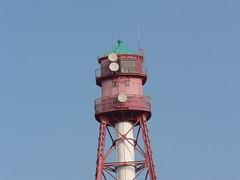 Campen East Frisia lighthouse (achatphoenix) Tags: lighthouse leuchtturm campen krummhrn eastfrisia ostfriesland ems riverems rural summer phare fyr estuary wasser water waddensea wattenmeer dyke kstenschutz