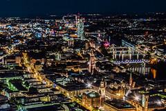 Big City Lights (marionrosengarten) Tags: city frankfurt life night longexposure nikon maintower dark big megacity