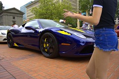She Wants It (swong95765) Tags: woman sexy beautiful lady female design pretty ferrari want desire vehicle sleek