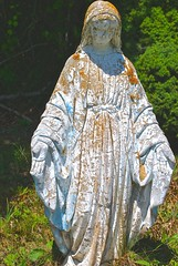 Oxidization (D. Brigham) Tags: graveyard statue outside outdoors capecod massachusetts virginmary oxidization pocassetcemetery