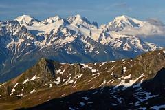 Mont Blanc in early summer (Photo_Flow) Tags: landscape landschaft 7dii alps alpen switzerland schweiz montblanc montebianco morning snow summer glacier gletscher view summit highestpeakineurope cabanefenestral wallis