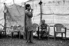 Life in a Nepali Village (WegZ Photography) Tags: life travel nepal people bw mountains travelling monochrome festival kids village dancing area remote nepali