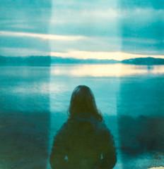 tugboat (healingnoise) Tags: polaroid film blue expired analog sx70 impossibleproject nature magic outdoor vibe dream adiputra healingnoise art dark darkart mood