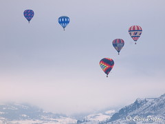 (1) Hot air balloons over Swan Lake, Vernon, BC (clive_bryson) Tags: hotairballoons swanlake vernon britishcolumbia canada winter