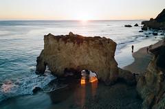 (edmondburnett) Tags: california leica sunset film beach 35mm losangeles malibu analogue m7 elmatador 28mmelmarit
