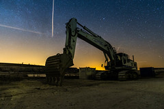 Industrial Nights (M.R.Bach) Tags: long exposure night dark limestone quarry industry machine nightsky stars airplanes trails astrophotography canon 6d tamron 2470 light pollution widefield milkyway denmark heavy machinery europe nightscape nightscapes faxe kalkbrud danish danmark