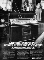 1978 Sony CF-580 stereo cassette recorder (Tom Simpson) Tags: sony 1978 1970s vintage ad ads advertising advertisement vintagead stereo music radio cassetteplayer cassette cassetterecorder electronics vintageelectronics vintageads